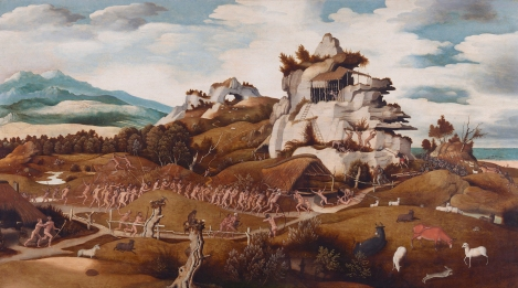 'Landscape with an Episode from the Conquest of America' by Jan Mostaert (c. 1535).